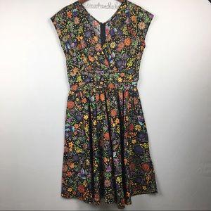 MODCLOTH Retrolicious Cap Sleeve Floral Dress